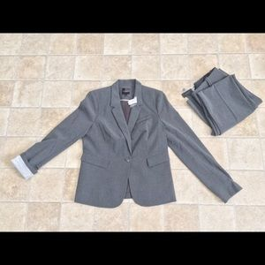 NWT The Limited Blazer With Striped Sleeve Lining